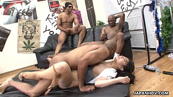 Interracial Group Pussy Destruction For Japanese Milf